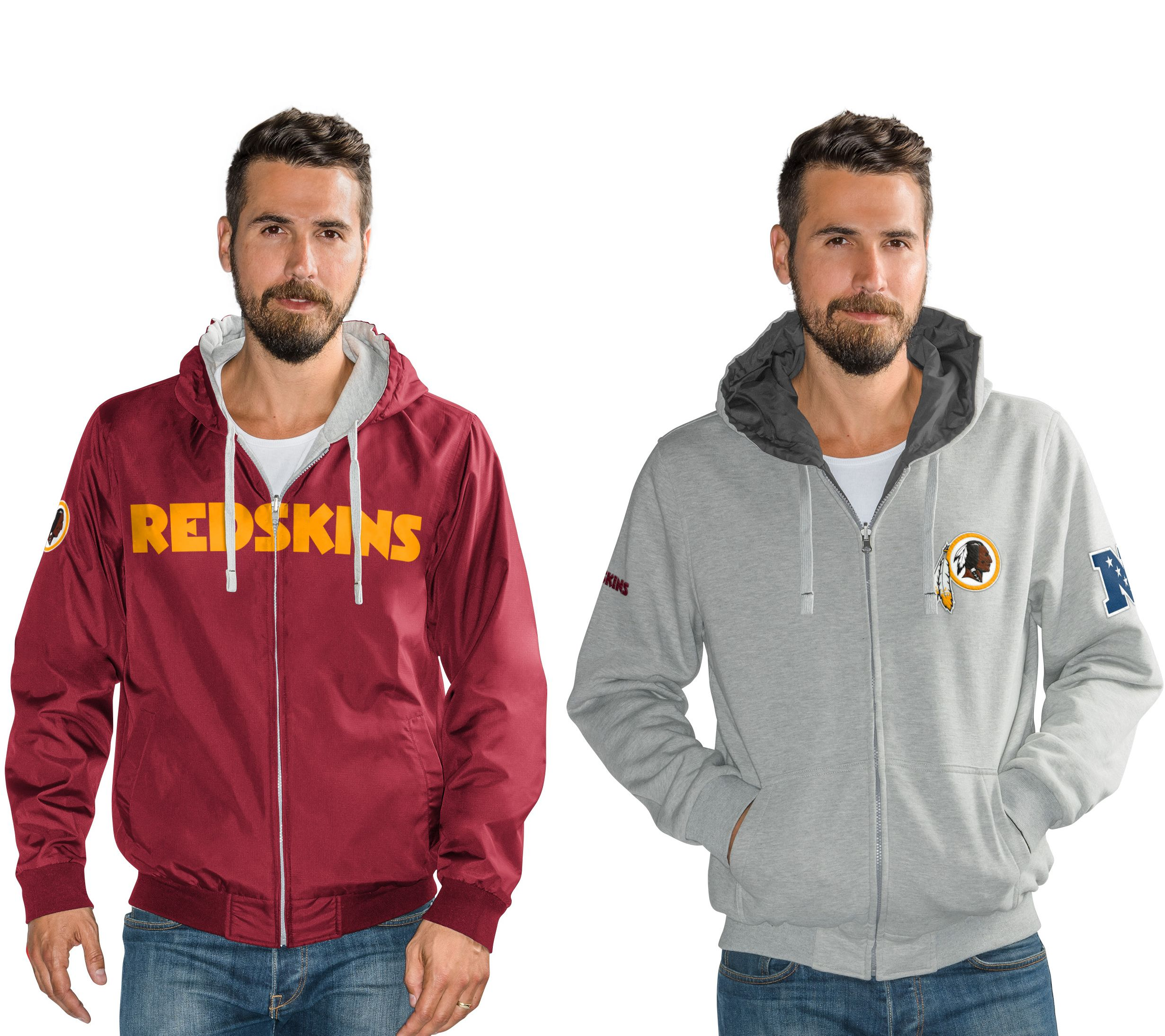 100% authentic 28e50 e07cc NFL Reversible Hoodie and Jacket in Team Colors — QVC.com