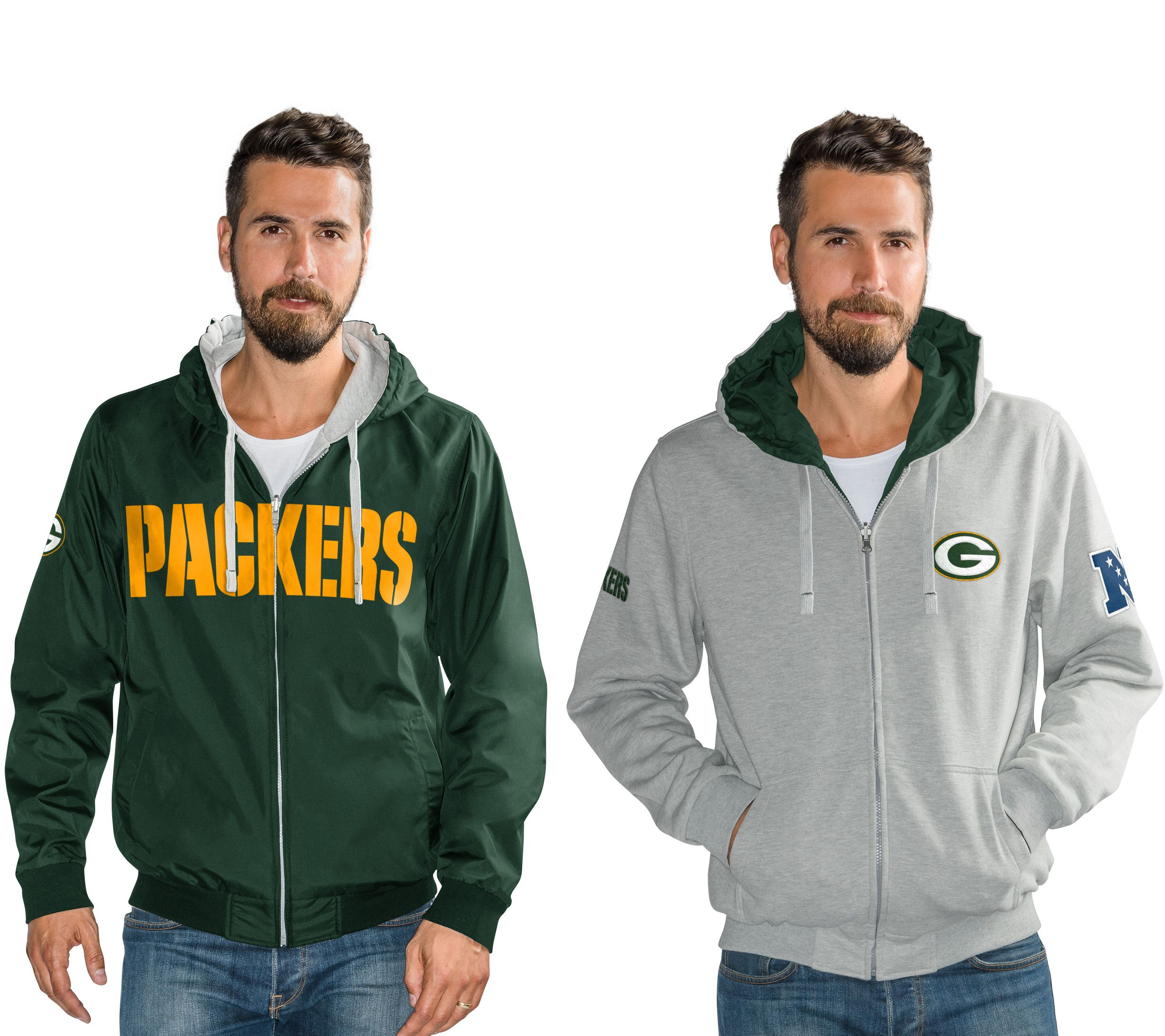 1d61ac4ff NFL Reversible Hoodie and Jacket in Team Colors - Page 1 — QVC.com