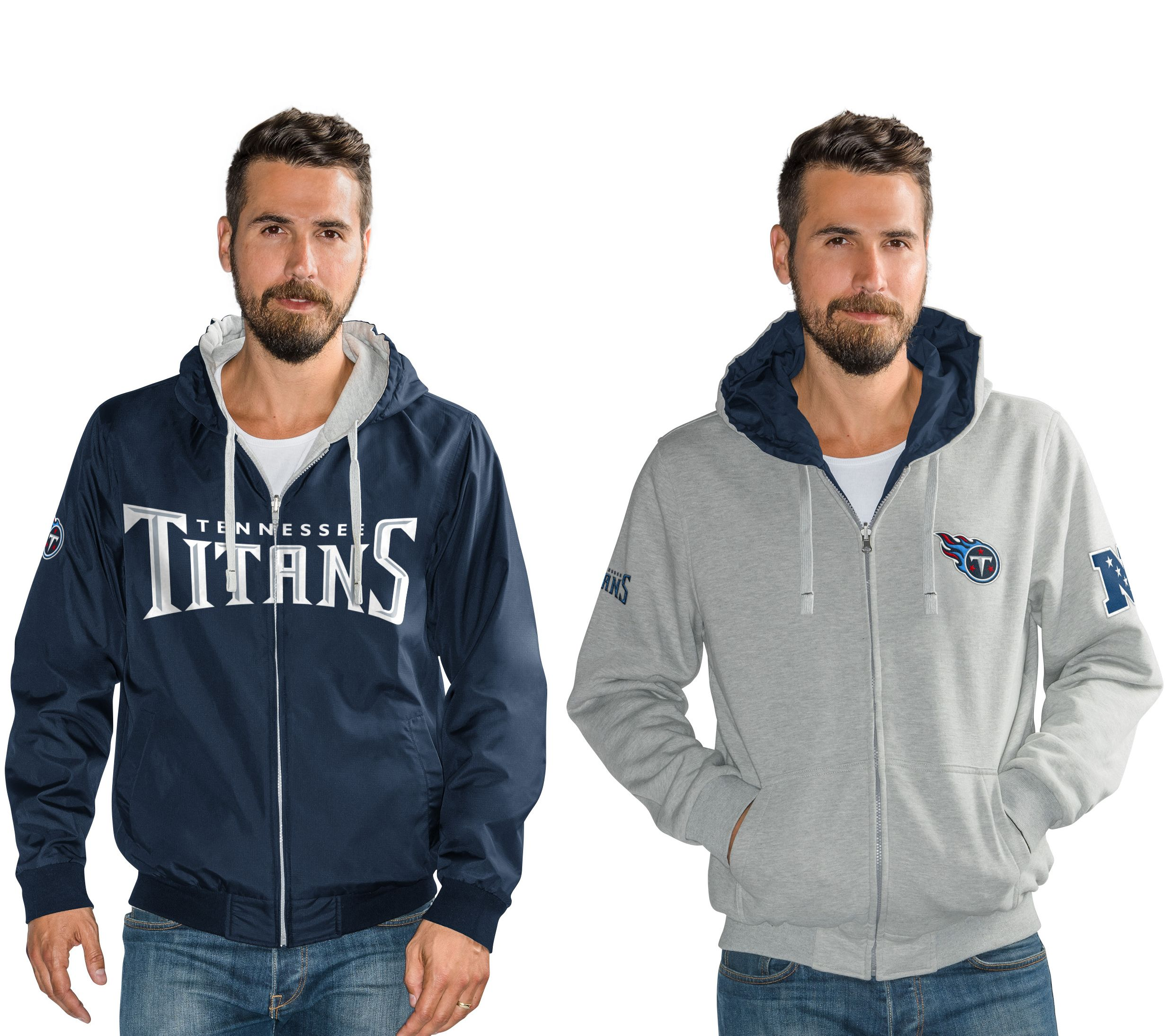 100% authentic eaf52 998c7 NFL Reversible Hoodie and Jacket in Team Colors — QVC.com