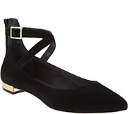 Rockport Total Motion Suede Pointed Toe Flats - A296640