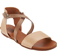 Miz Mooz Leather Cross Strap Sandals - Amanda - A304340