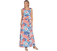 Denim & Co. Regular Floral Printed Sleeveless Knit Maxi Dress - A307040