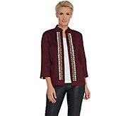 GRAVER Susan Graver Embellished Linen Twill Jacket - A308240