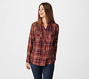 G.I.L.I. Yarn Dyed Woven Shirt with Grommet Detail - A310340