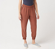 LOGO by Lori Goldstein Woven Tencel Jogger Pant with Pockets - A345540
