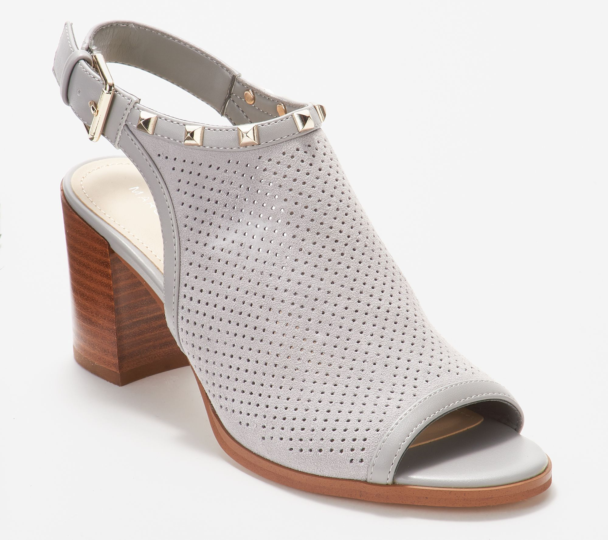 Suede Heeled Parso — Sandals Fisher Marc Perforated lwOPZukiXT