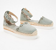 Vince Camuto Leather Two-Piece Espadrilles- Breshan - A353440