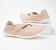 Bernie Mev Basket Weave Mary Jane Slip-On Shoes - Margo - A353740