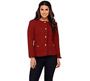 As Is Joan Rivers Boucle Jacket w/ Self Fringe and Bracelet Sleeve - A365640