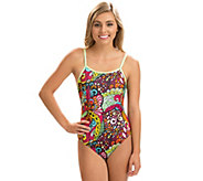 Dolfin Womens Uglies String-Back Printed One-Piece Swimsuit - A424440