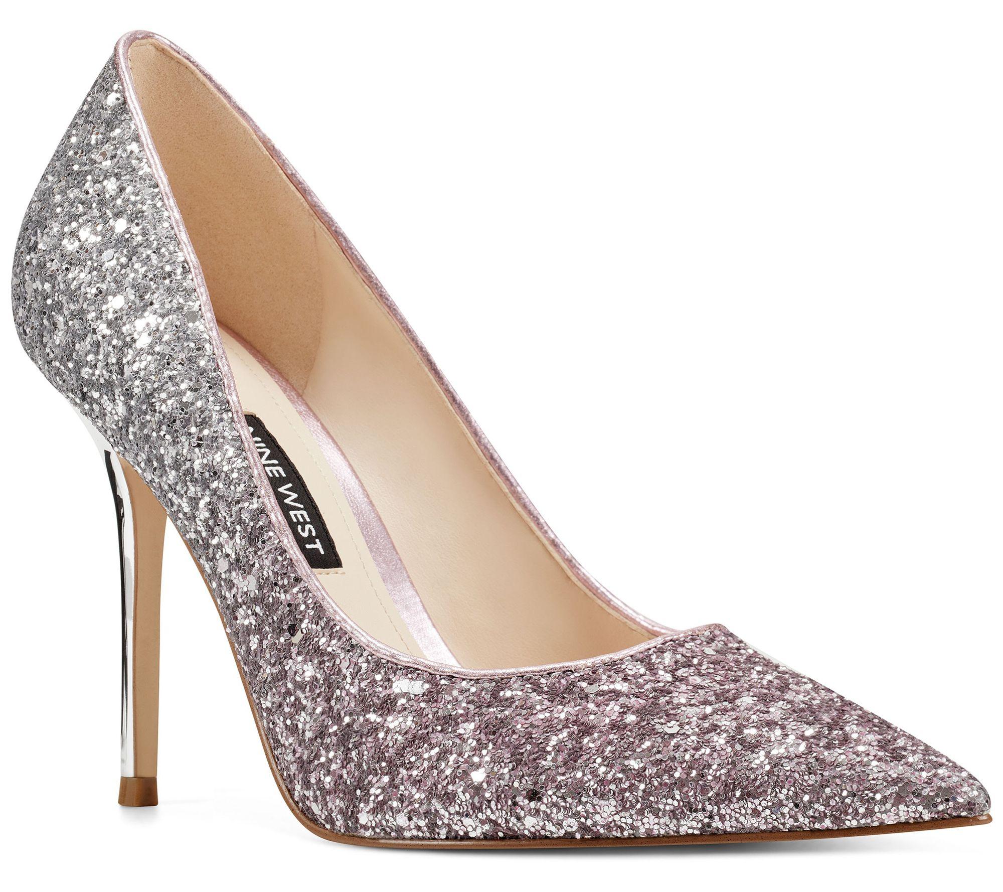 59614ec2d29 Nine West Pointed-Toe Glitter Pumps - Bliss — QVC.com