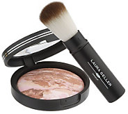 Laura Geller Baked Bronze N Brighten Powder with Brush - A81940