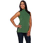 Susan Graver Essential Liquid Knit Sleeveless Turtleneck - A269241