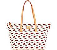 Dooney & Bourke NCAA University of Arkansas Zip Top Shopper - A283241