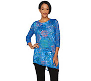 Attitudes by Renee 3/4 Sleeve Lace Overlay Tunic - A288141