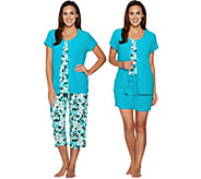 Carole Hochman Daisy Floral Baby Terry 4-Piece Lounge  Set - A290141