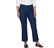 Isaac Mizrahi Live! 24/7 Denim Petite Flare Ankle Jeans - A293941