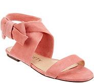 Sole Society Suede Bow Sandals - Calynda - A305041