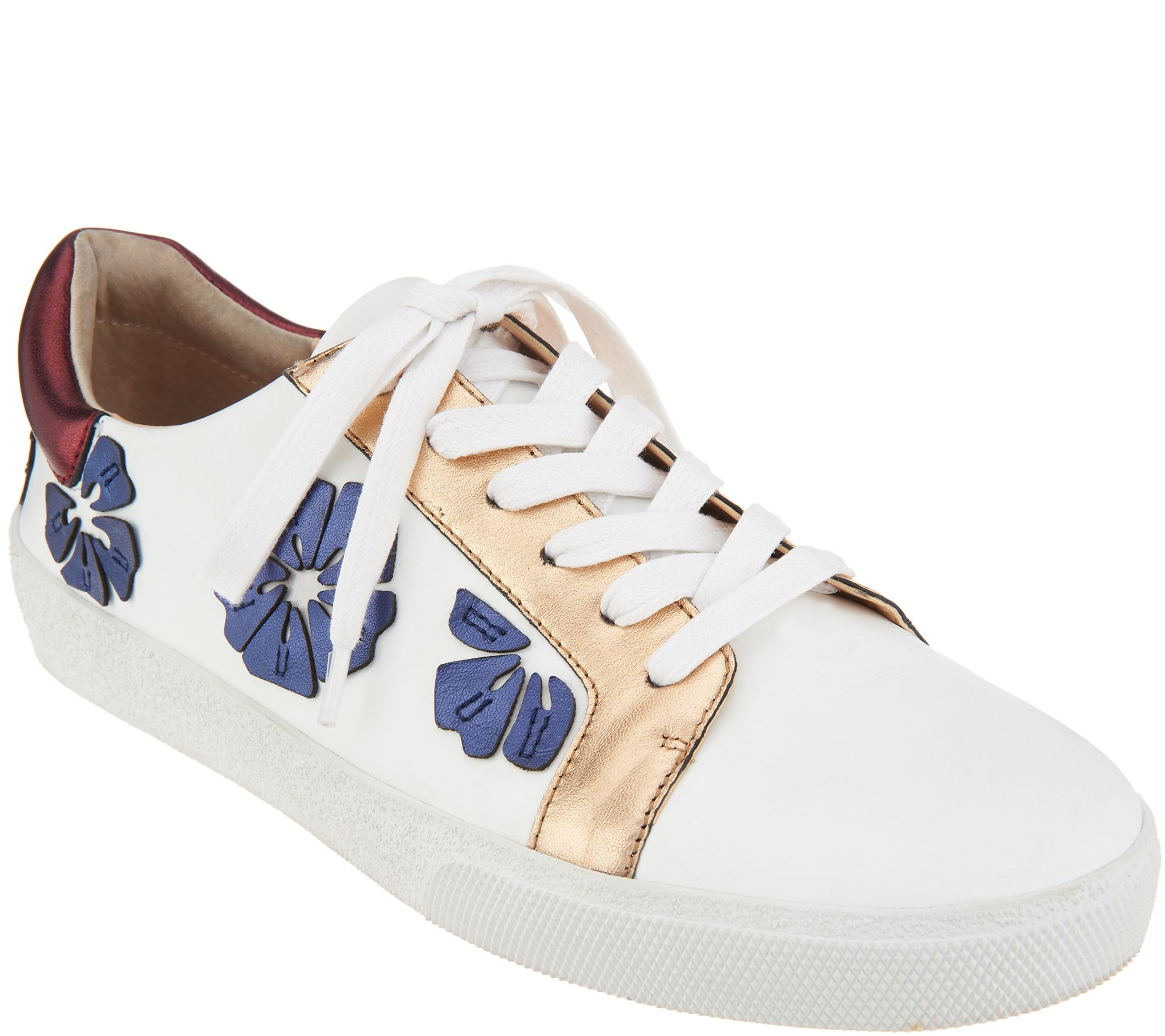 76ca01d0395e Vince Camuto Leather Lace Up Sneakers - Claudinia - Page 1 — QVC.com
