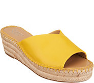 Franco Sarto Leather Espadrille Wedges - Pinot - A306941