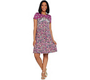 Isaac Mizrahi Live! Engineered Paisley Printed Knit Dress - A308141