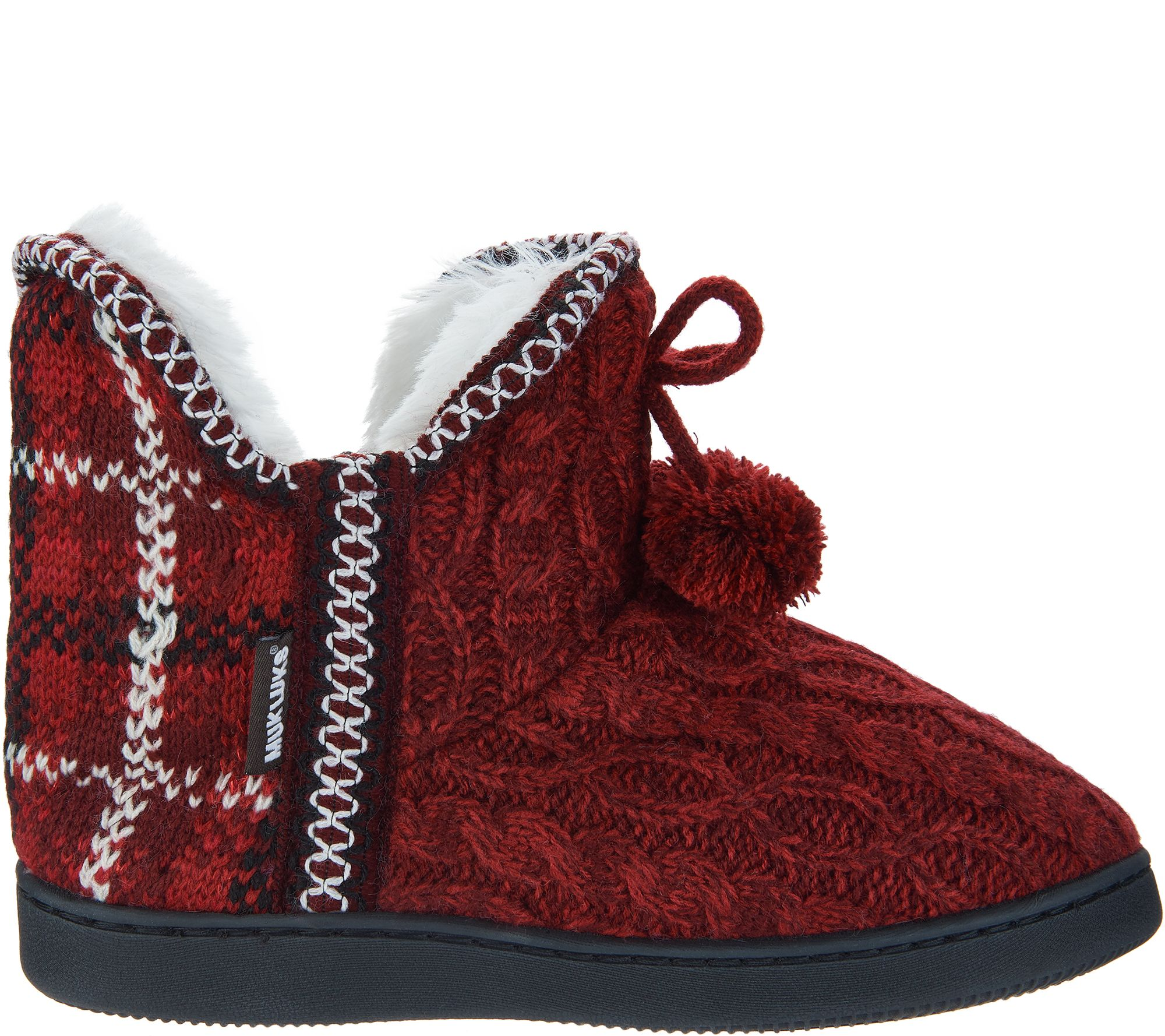 0780e893fcfb MUK LUKS Amira Slipper Boots with Faux Fur Lining - Page 1 — QVC.com