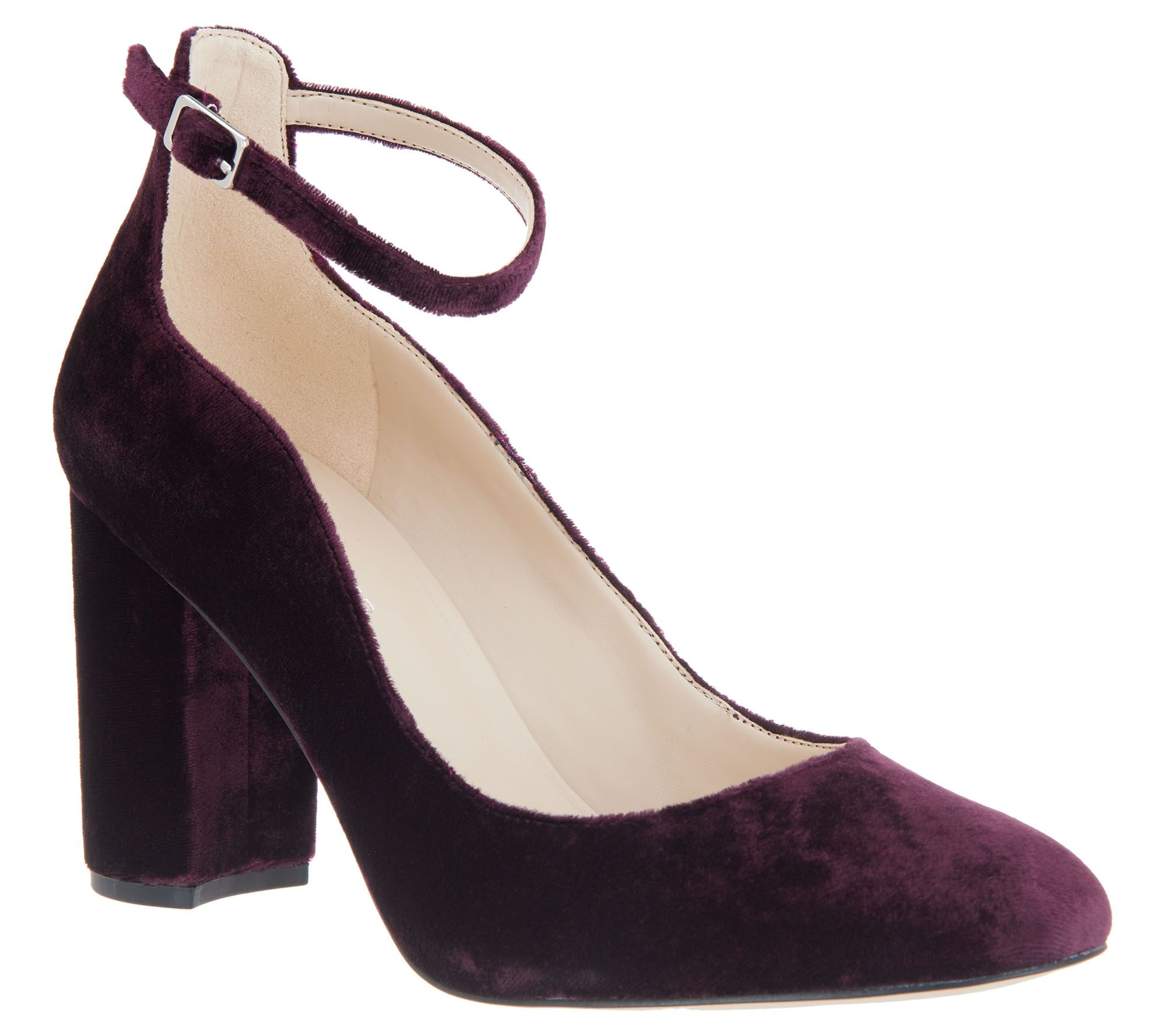 2d8f11b71a1 Marc Fisher Block Heel Pumps with Ankle Strap - Imagie2 — QVC.com