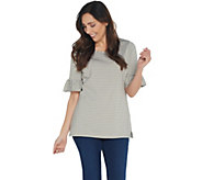 Belle by Kim Gravel TripleLuxe Knit Skinny Striped Top - A347141