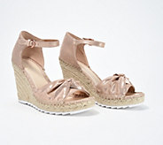 Marc Fisher Open-Toe Espadrille Wedges - Karli - A350241