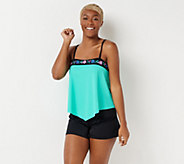 Fit 4 U Embroidered Bandeau Tankini with Short - A350541