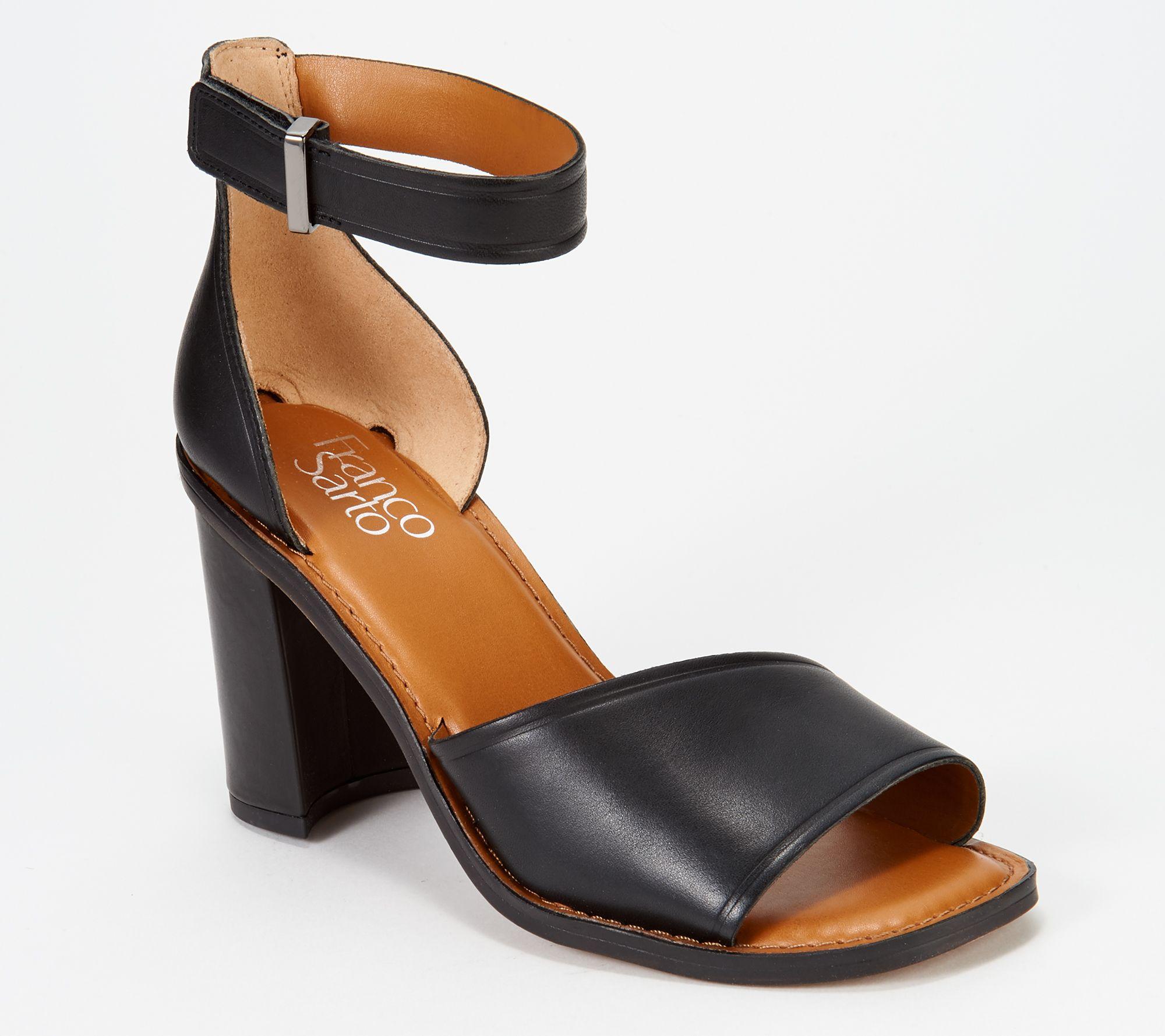 b0374d59d00 Franco Sarto Block Heeled Sandals - Caia - Page 1 — QVC.com