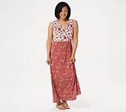 Joan Rivers Petite Scoop-Neck Floral Print Maxi Dress - A351441
