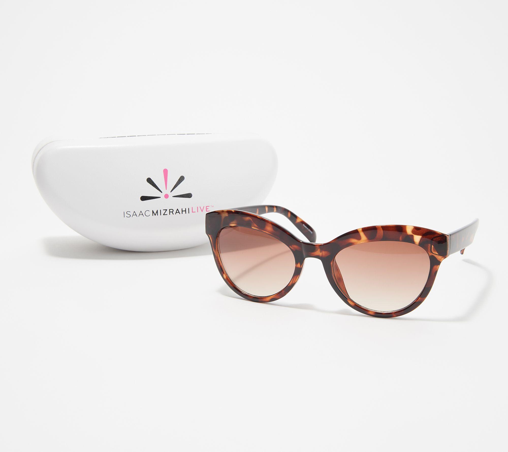 6b3cd9125a Isaac Mizrahi Live! Rounded Cat Eye Sunglasses - Page 1 — QVC.com