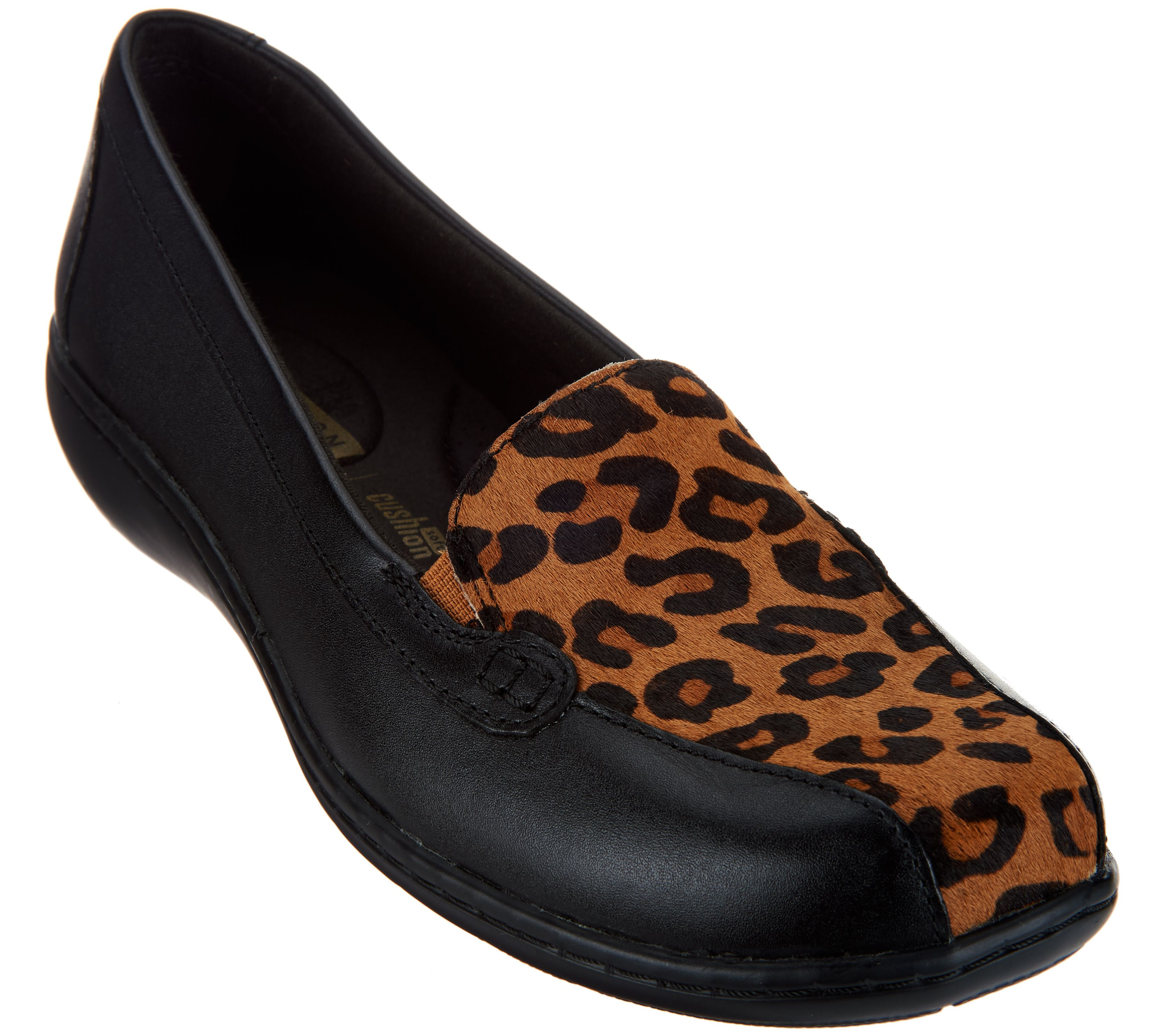 super popular e5ac2 c1f77 Clarks Collection Leather Slip-on Loafers - Bayou — QVC.com