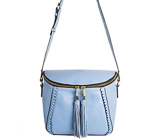 orYANY Pebbled Leather Crossbody Bag w/ Tassels-