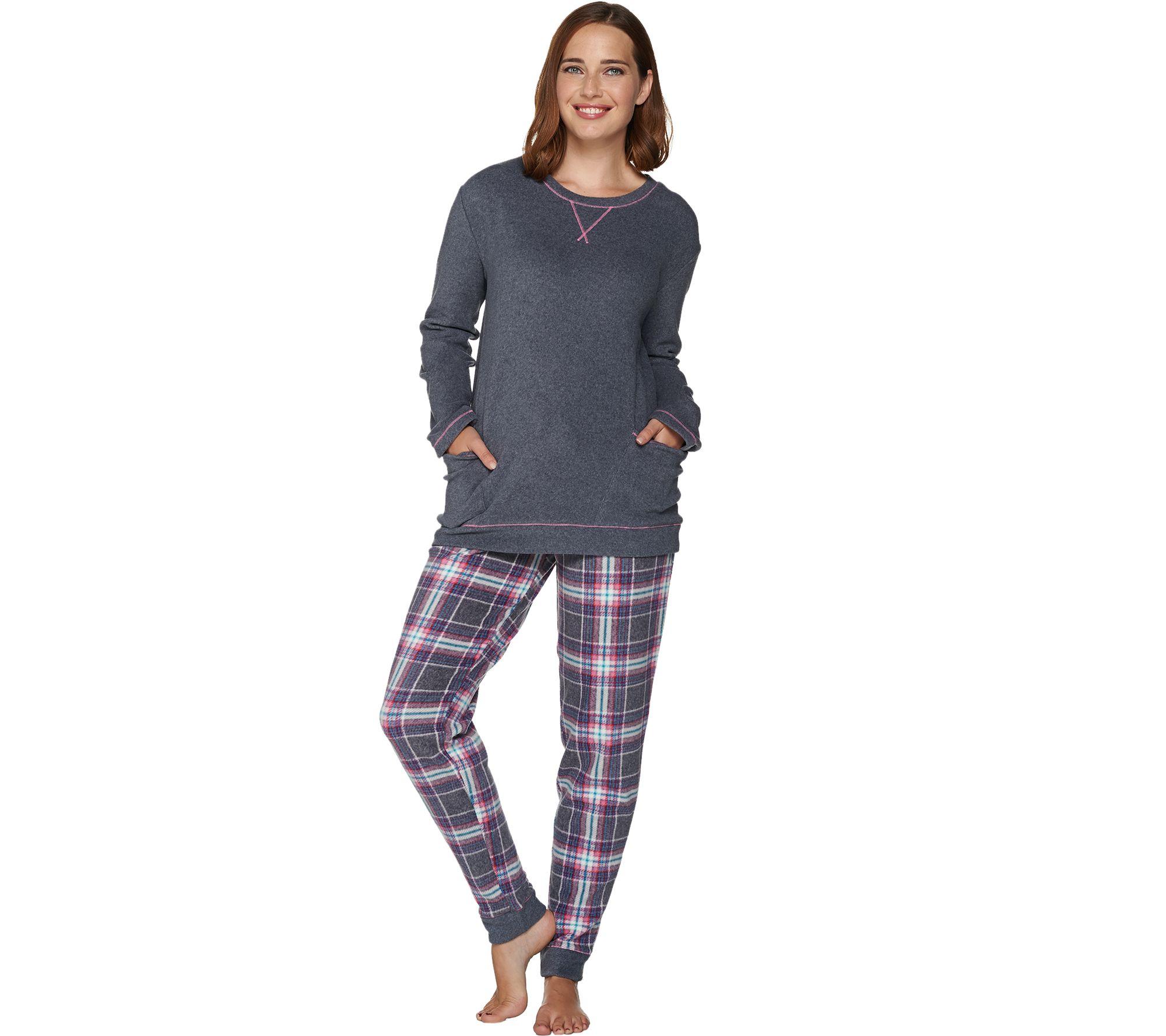 8d9d3280ad8 Cuddl Duds Stretch Fleece Novelty Pajama Set - Page 1 — QVC.com