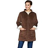 Denim & Co. Wide Wale Corduroy Zip Front Jacket - A284542