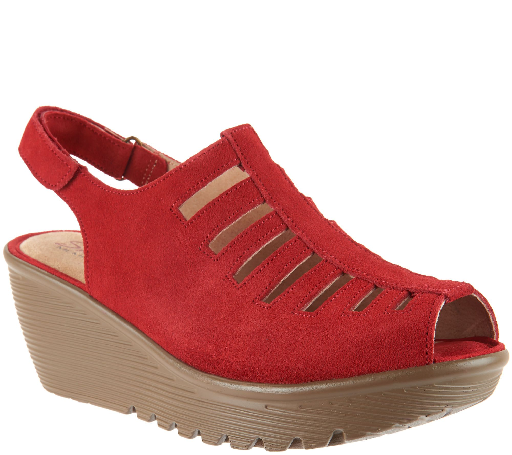 best store to get cheap online Skechers Suede Peep-toe Sling-back Wedges - Trapezoid 2014 newest for sale clearance original free shipping cost discount 100% original i1I9fS