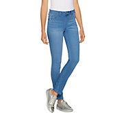 Laurie Felt Regular Silky Denim Slim Pull-On Jeans - A290642