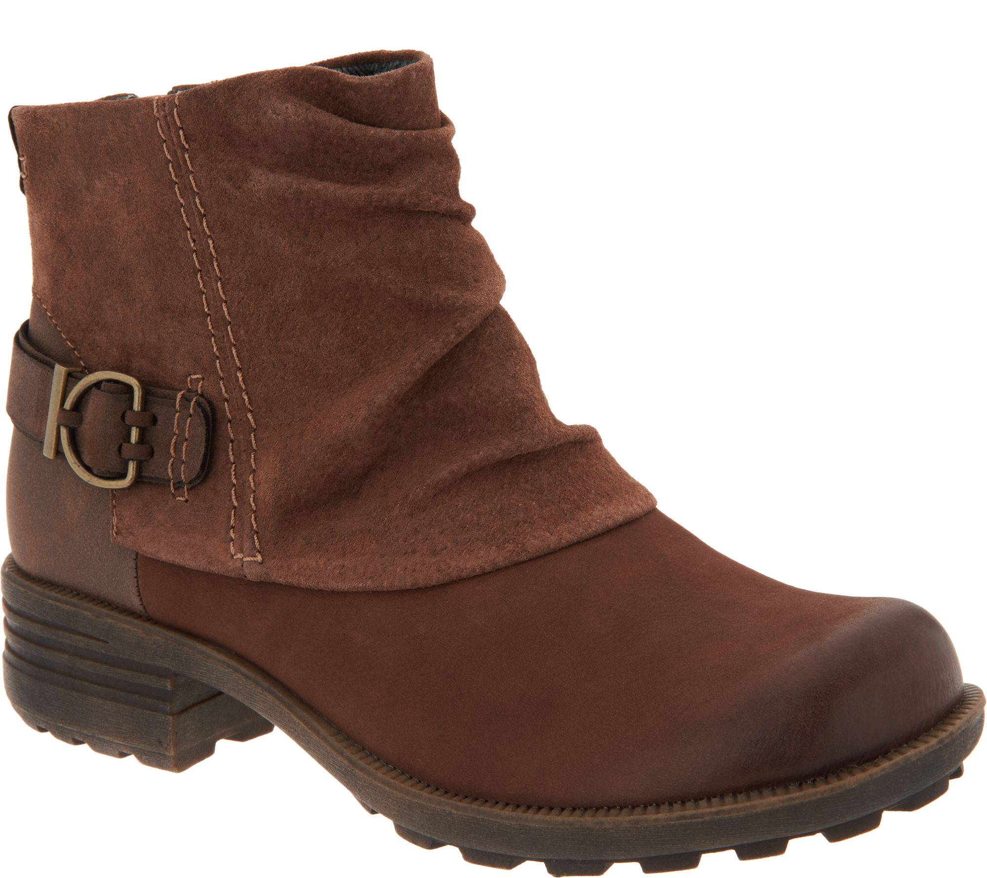 cf1023ff4 Earth Origins Leather and Suede Ankle Boots - Paige - Page 1 — QVC.com