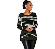 Attitudes by Renee Long Sleeve Pullover Camo Sweater - A298542