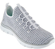 As Is Skechers Multi Knit Slip-On Bungee Sneakers Visions - A301842