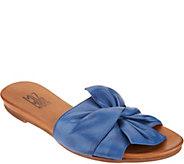 e22cdfeca668 Miz Mooz Leather Knot Detail Slide Sandals - Angelina - A304342