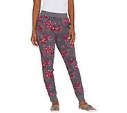 Denim & Co. Active Petite Floral Print French Terry Jogger Pant - A309342