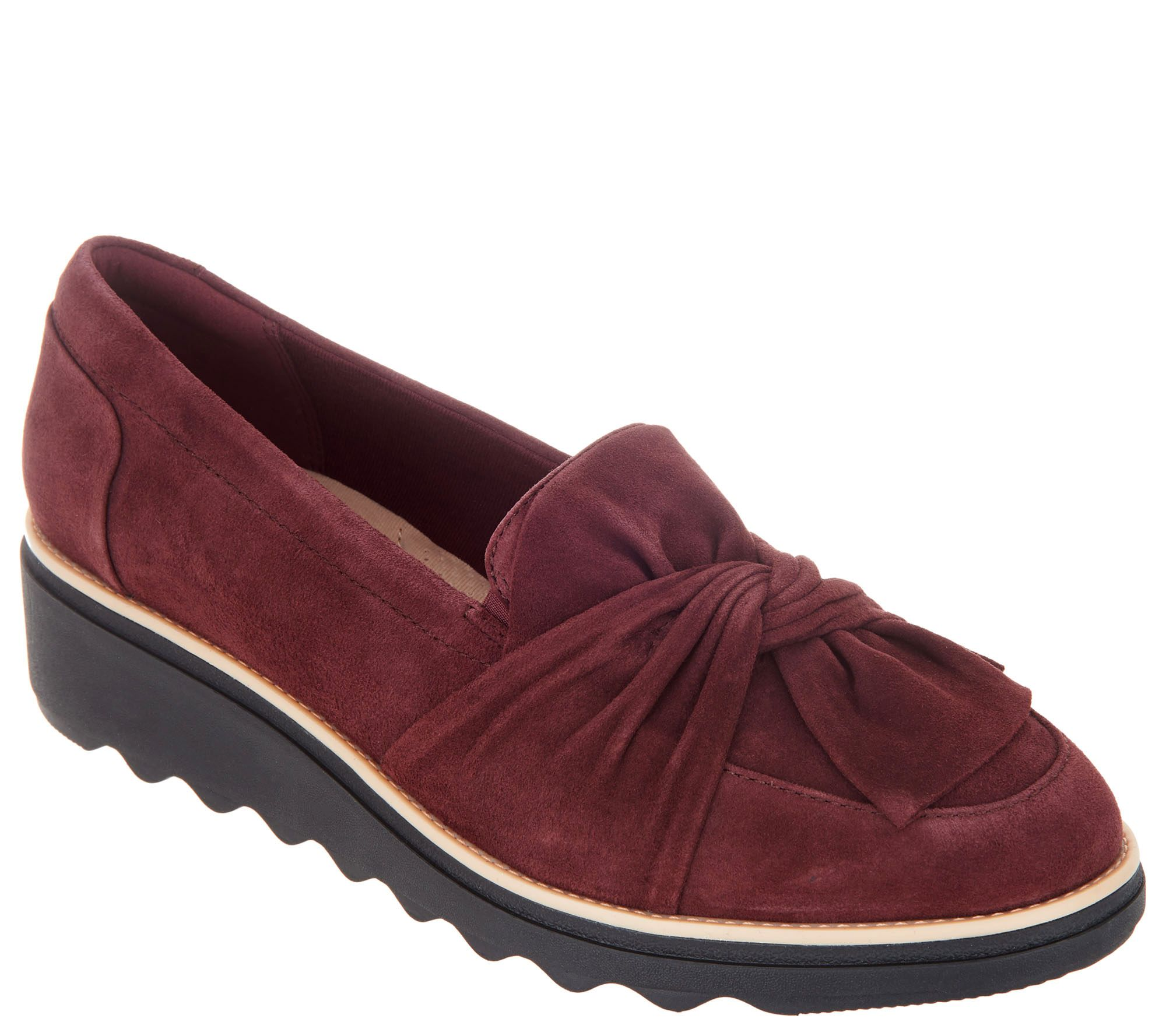 029110c68c9 Clarks Suede Slip-On Loafer with Knotted Detail - Sharon Dasher - Page 1 —  QVC.com
