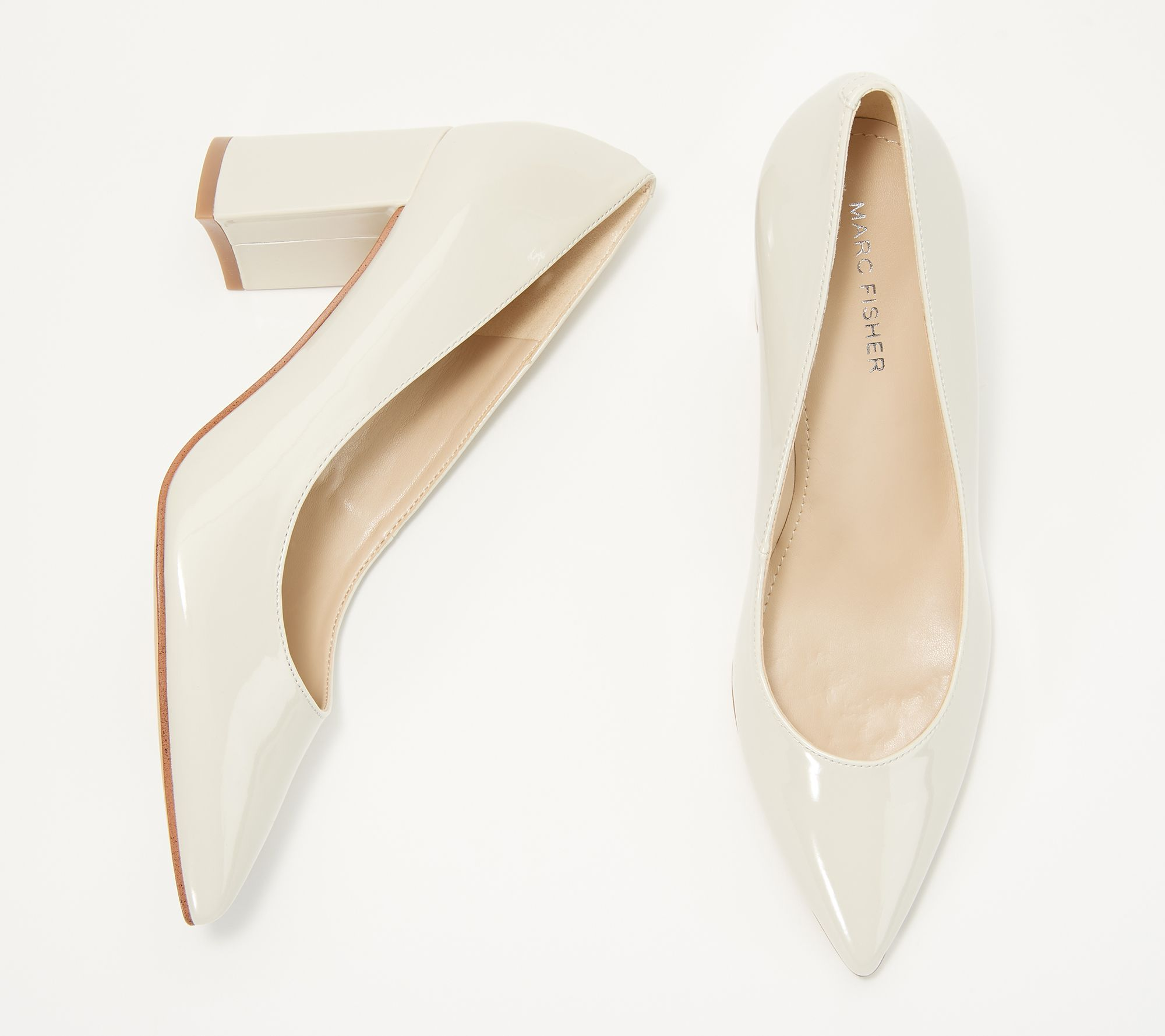 510a60f896c0 Marc Fisher Pointy Toe Block Heel Pumps - Claire - Page 1 — QVC.com