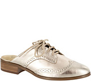 Bella Vita Leather Lace Up Oxford Mules -  Baxter - A359542