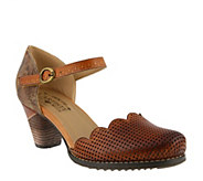 LArtiste by Spring Step Leather Mary Janes - Parchelle - A360142