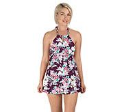 Carole Hochman Keyhole High-Neck Swim Dress - A424242