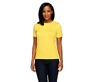 Susan Graver Essentials Butterknit Short Sleeve T-Shirt - A96742